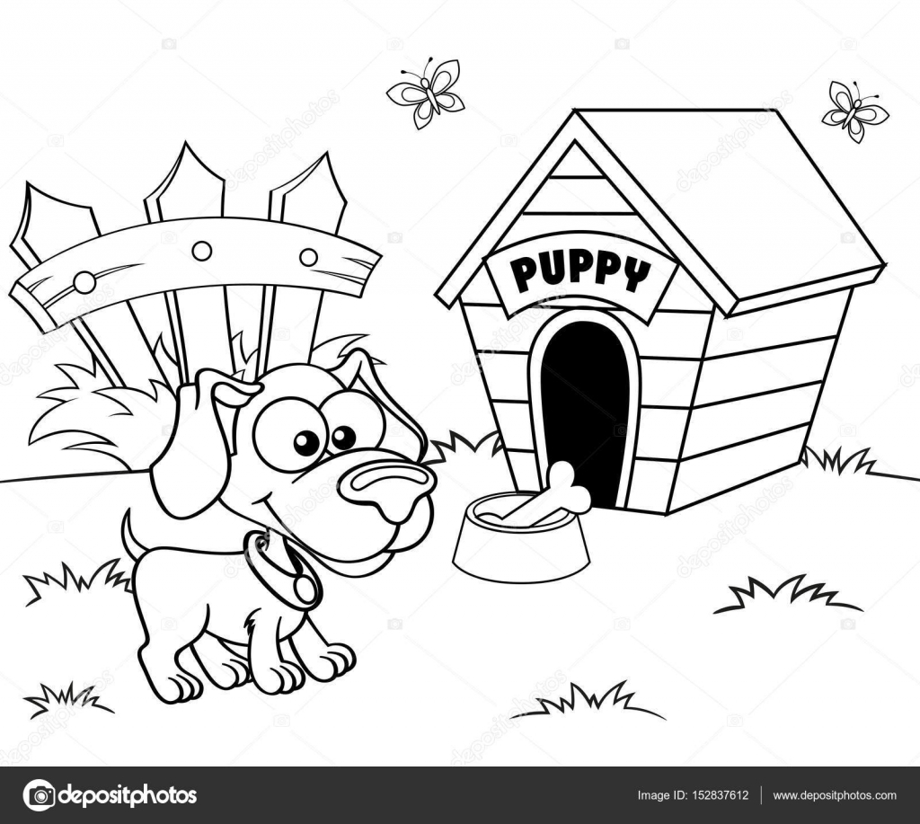 perro y casa — Archivo Imágenes Vectoriales © Alka5051 #152837612
