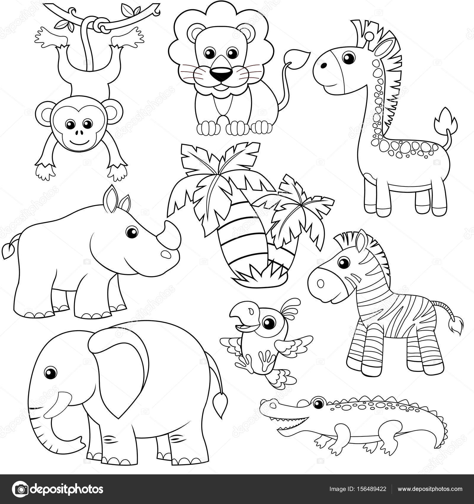 Dibujos: animales de selva para colorear | Animales de la selva