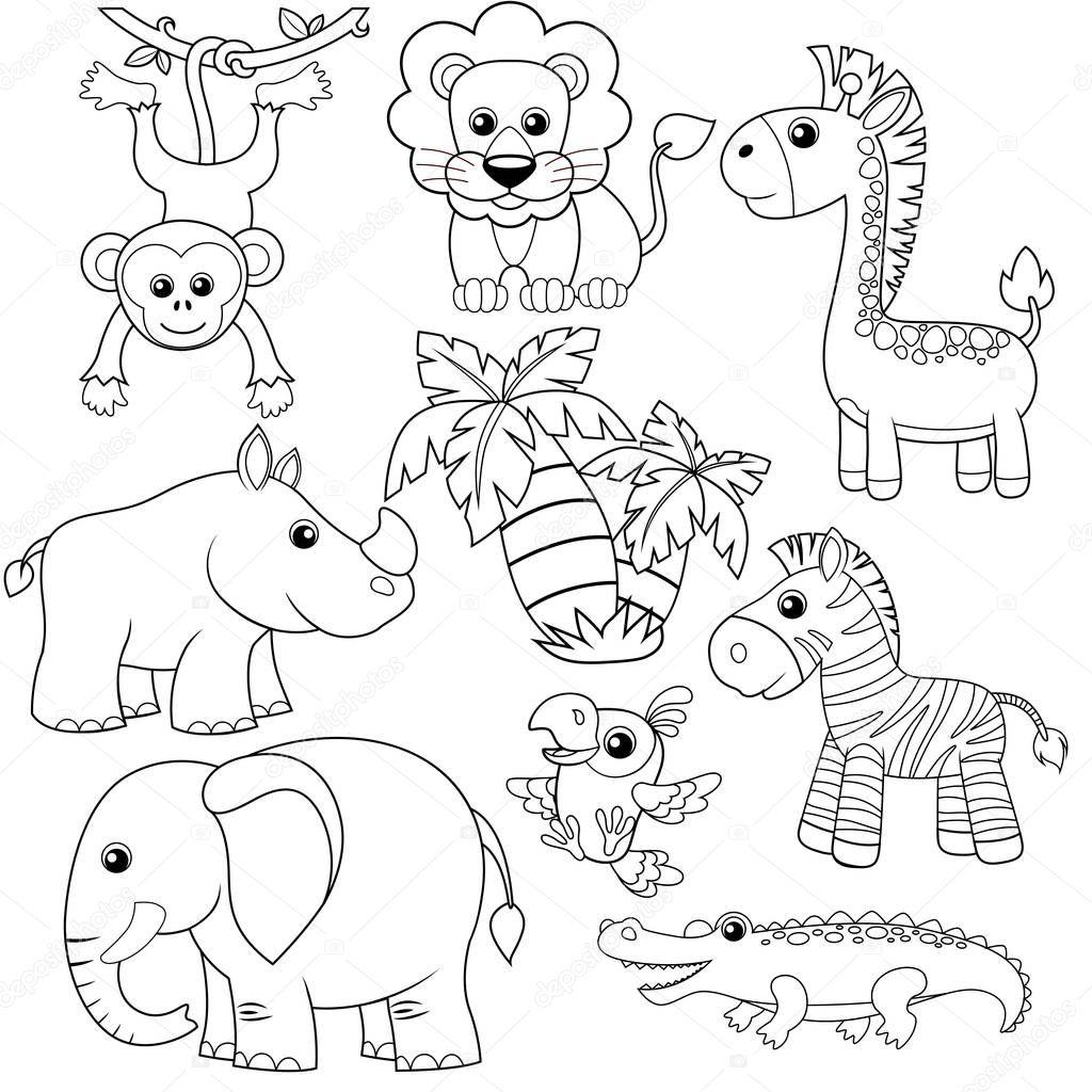 Dibujos: Animales De Selva Para Colorear
