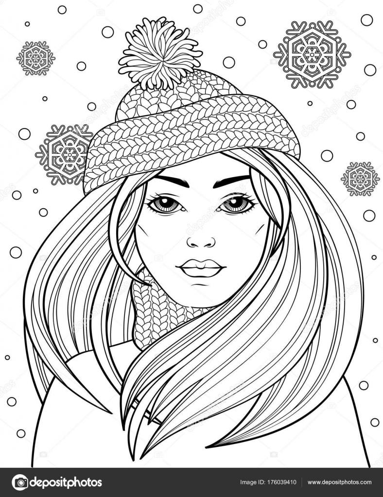 beautiful hair knitted hat