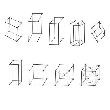Types crystal lattices