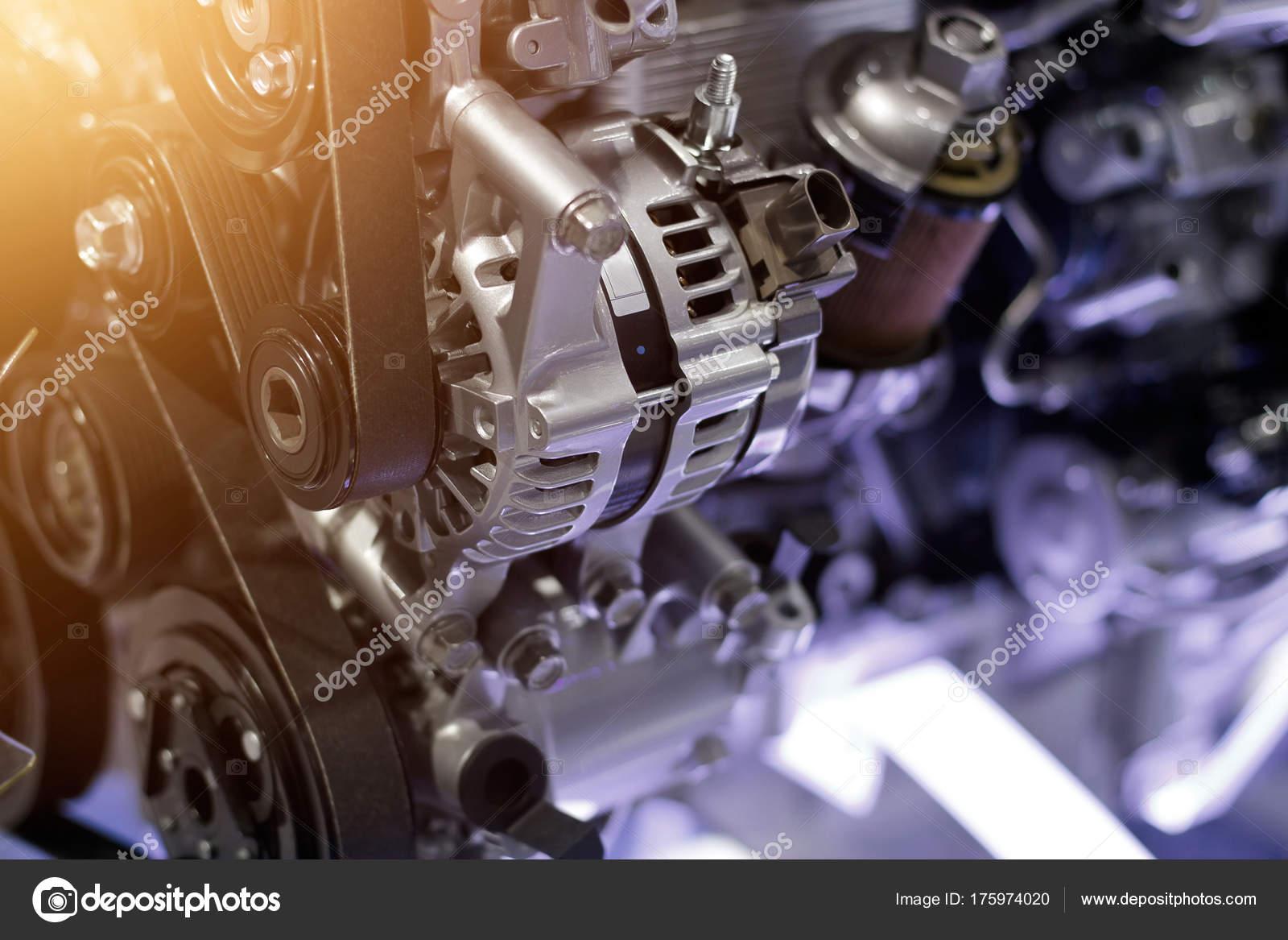 Autoteil des Motors, Konzept der modernen Fahrzeug und geschnittener ...