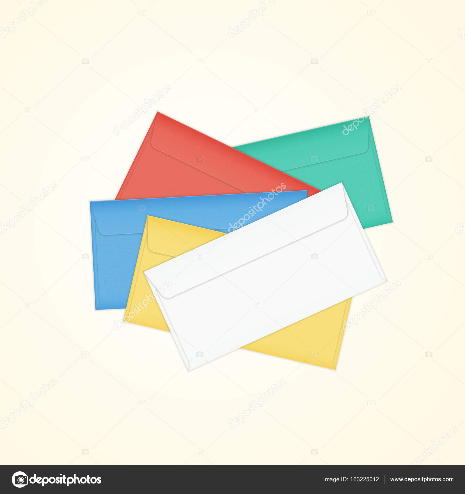 Colored card stock and envelopes - Isolated Illustration Of Different Colored Paper Envelope Stack For Business Letter Advertisement Invitation Cards Or Money Vector By Volha Belausava