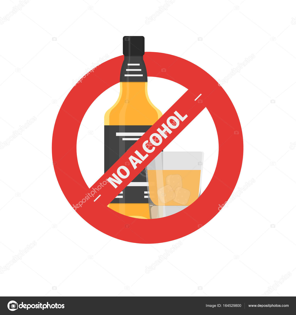 Vector plano dejar de tomar el icono de la botella de alcohol con vidrio archivo im genes - Un mes sin beber alcohol ...
