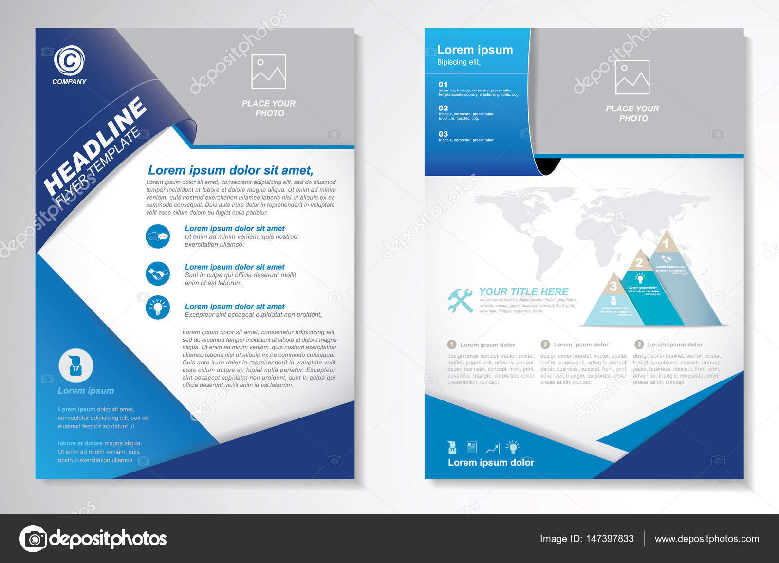 vector brochure flyer design layout template size a4 front page