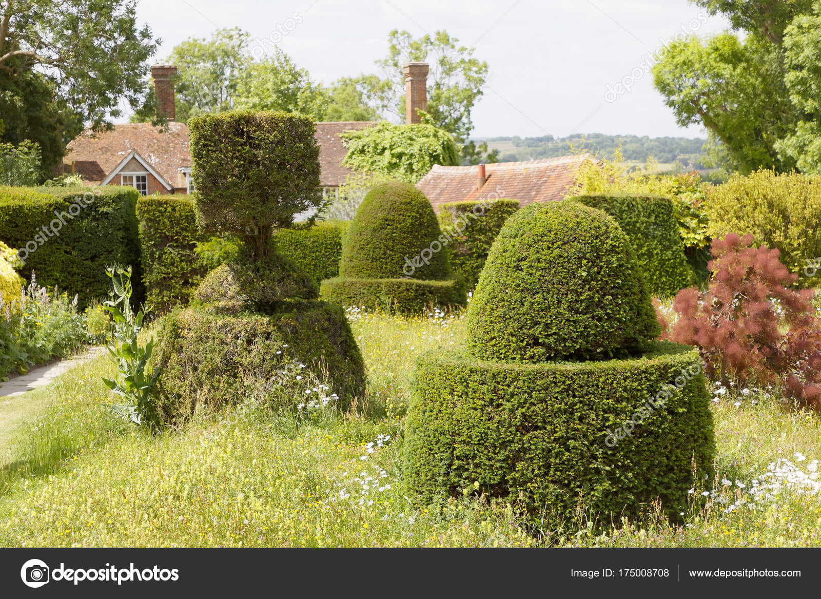 Topiary Of Yew Trees In Different Shape In A Garden Stock Photo C Hans Chr 175008708