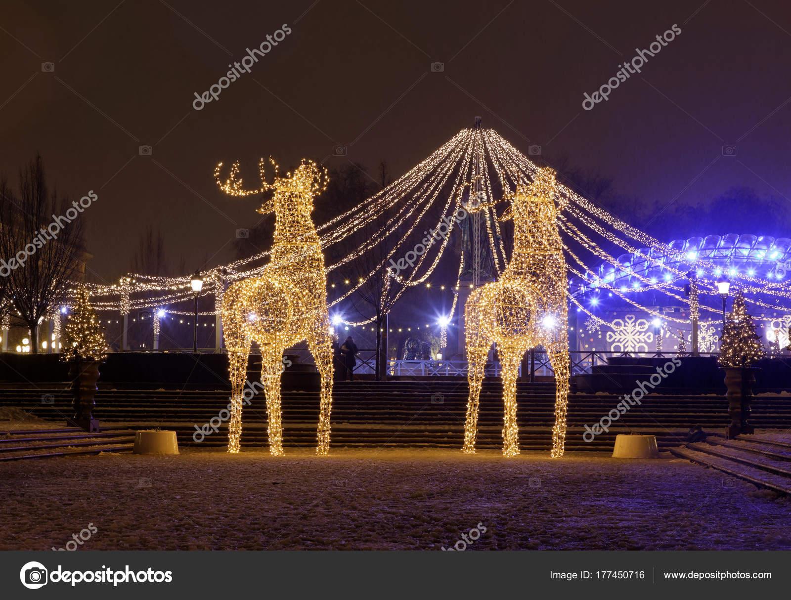 Decoraci n de navidad renos gigantes de luz led foto de for Adornos navidenos 2017 trackid sp 006