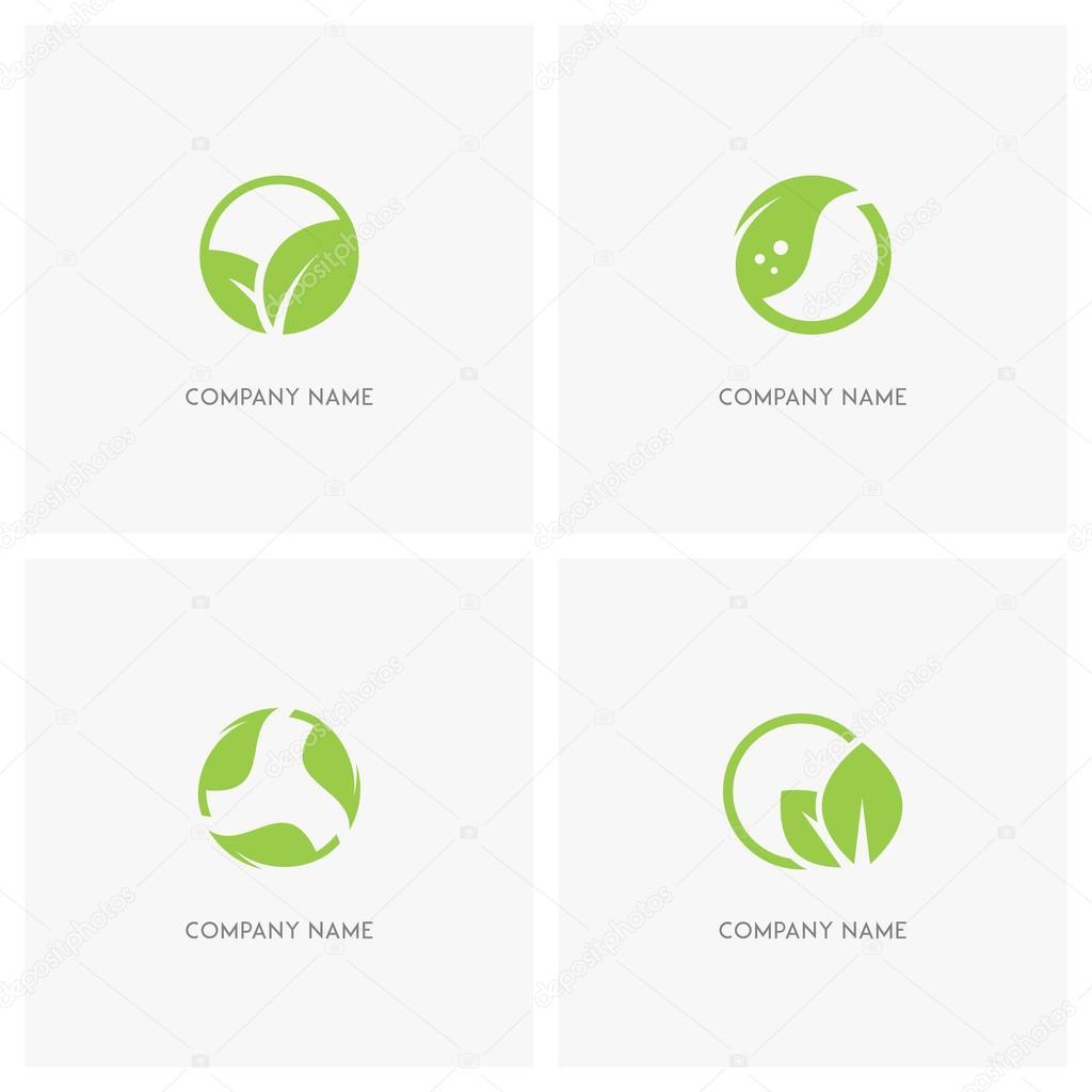 Hojas de color verde y logo de ecolog a vector de stock - Color verde hoja ...
