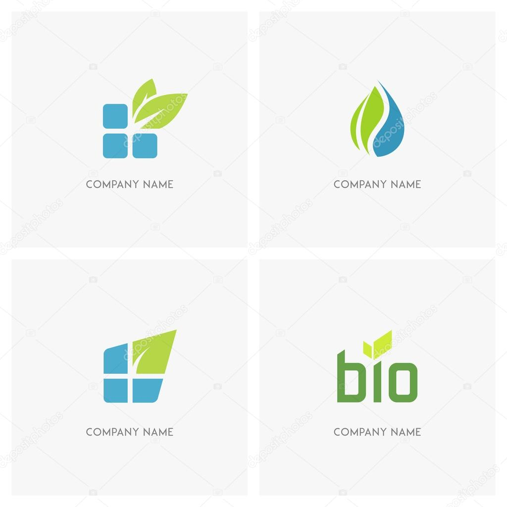 Eco and nature logo