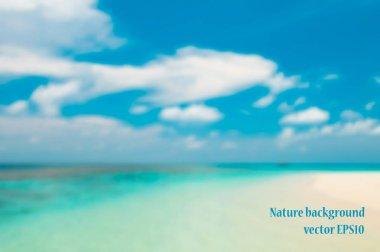 Blurred Maldivian beach with sand
