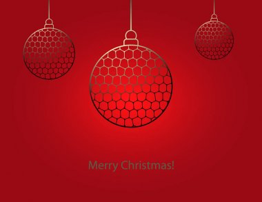 Christmas balls in gold color