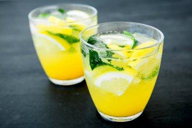 Fresh citrus lemonade  in glasses