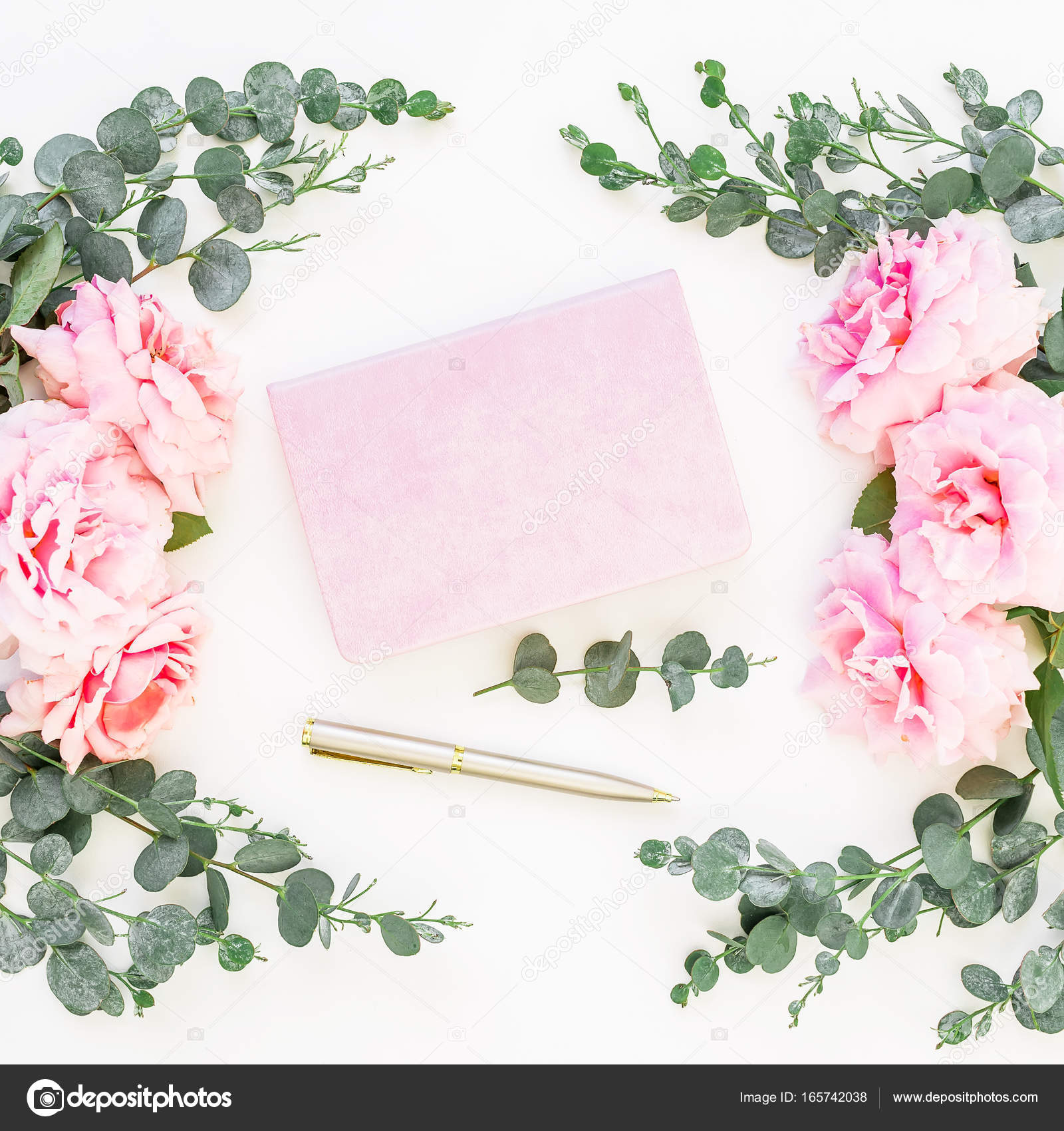 Blumenrahmen rosa Blüten — Stockfoto © Keola #165742038