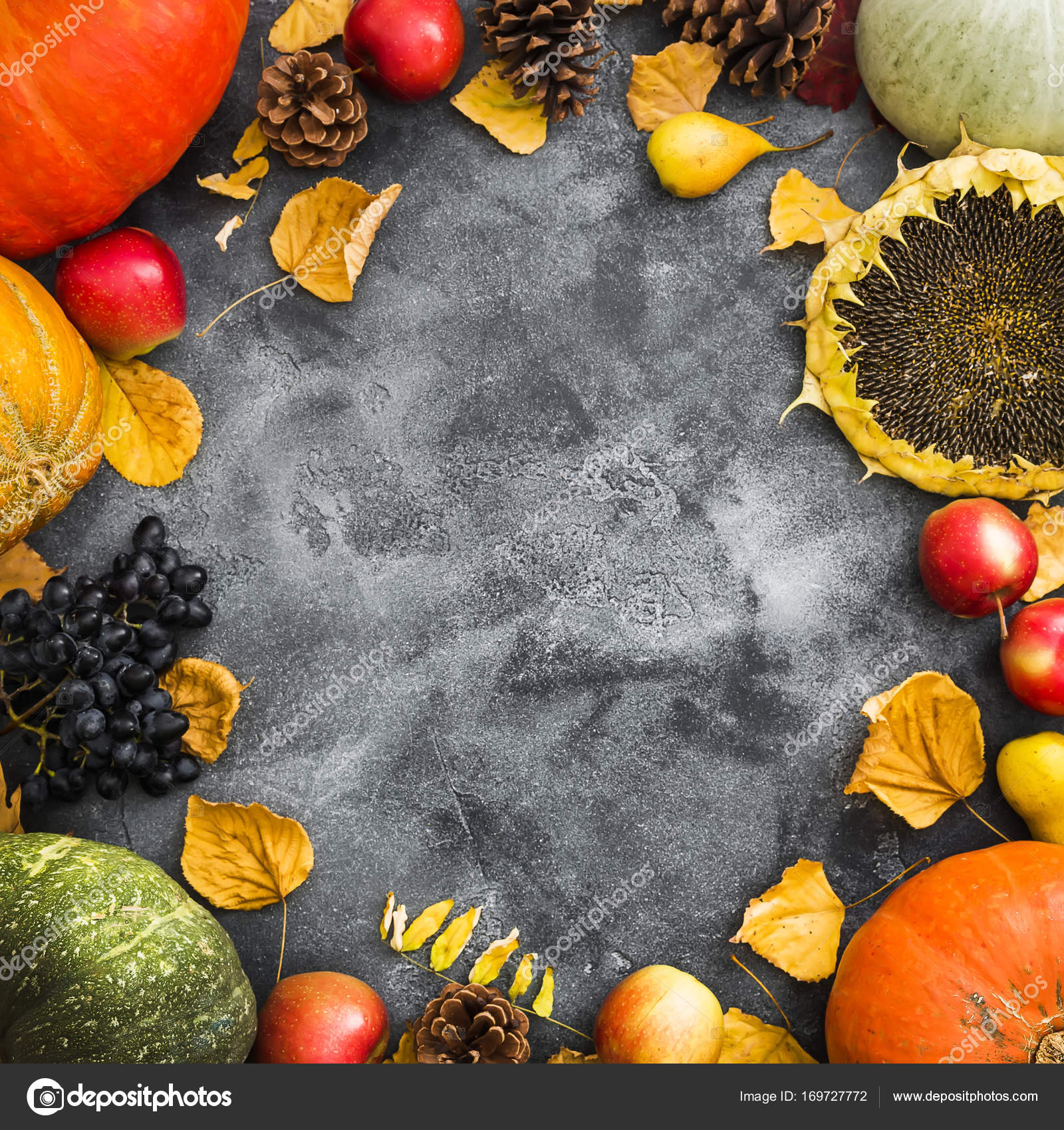 Thanksgiving Dinner Autumn Background Flat Lay Top View Photo By Keola