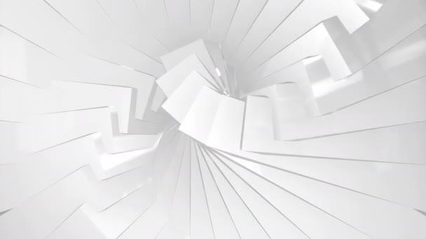 Bílé sklo geometrické nízké poly textury animace. Opakování.