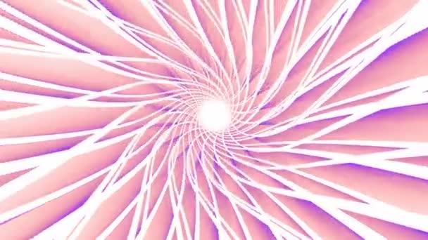 Abstraktní pastelové linky holografické animace. Bezešvá smyčka