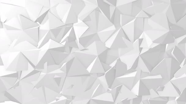 Bílá textura geometrická abstraktní trojúhelník. Bezešvá smyčka.