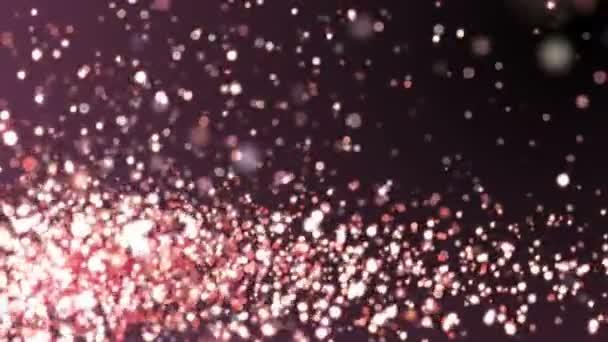 Rózsa arany csillogó ragyog a sötét háttér textúra. Fényes absztrakt animáció.