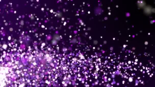 Purple Glitter Sparkles Texture Dark Background Shiny Abstract Animation Stock Video C Maraha 192993684