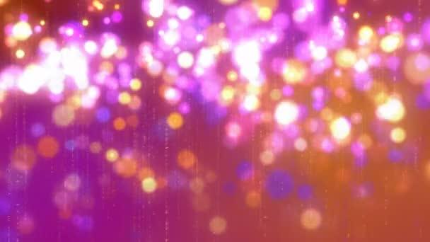 Růžové a zlaté třpytky jiskří lesklé animace