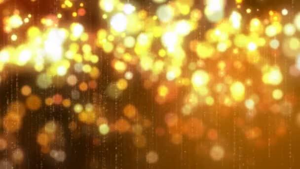 Zlatý třpyt jiskří lesklé animace