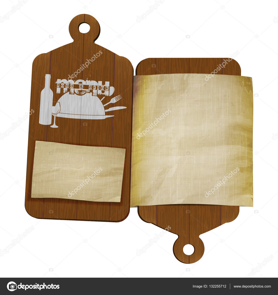 tableros de corte de plantilla de menú de restaurante y papel ...