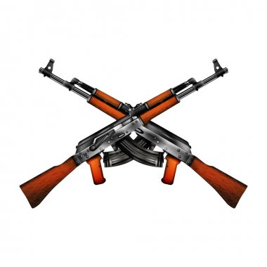 realistic vector of a Kalashnikov AK-47