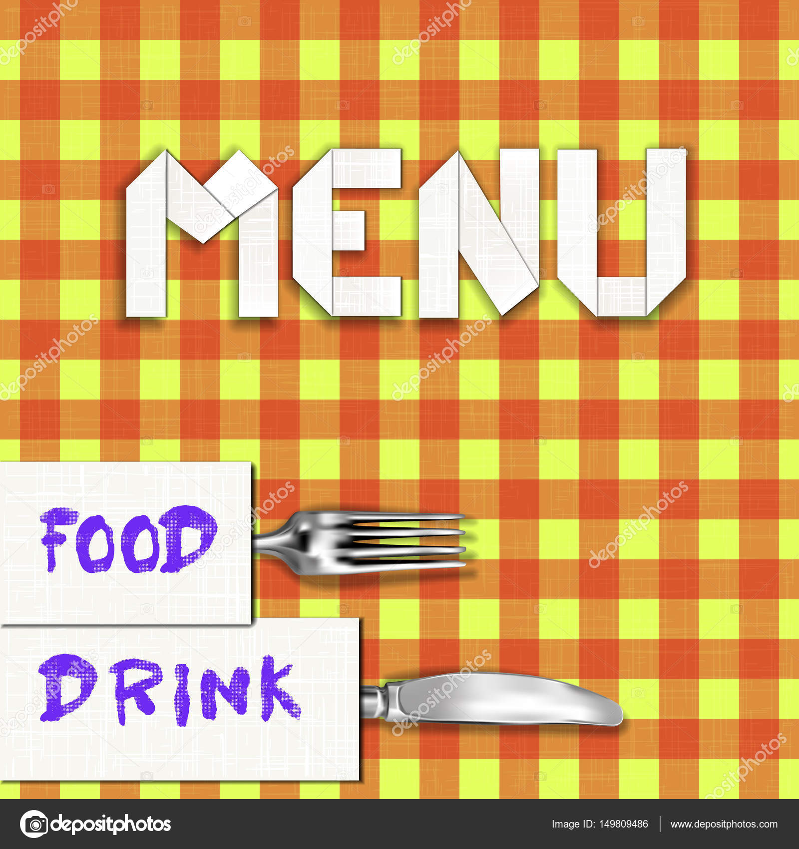template restaurant menu swipe and tablecloth stock vector