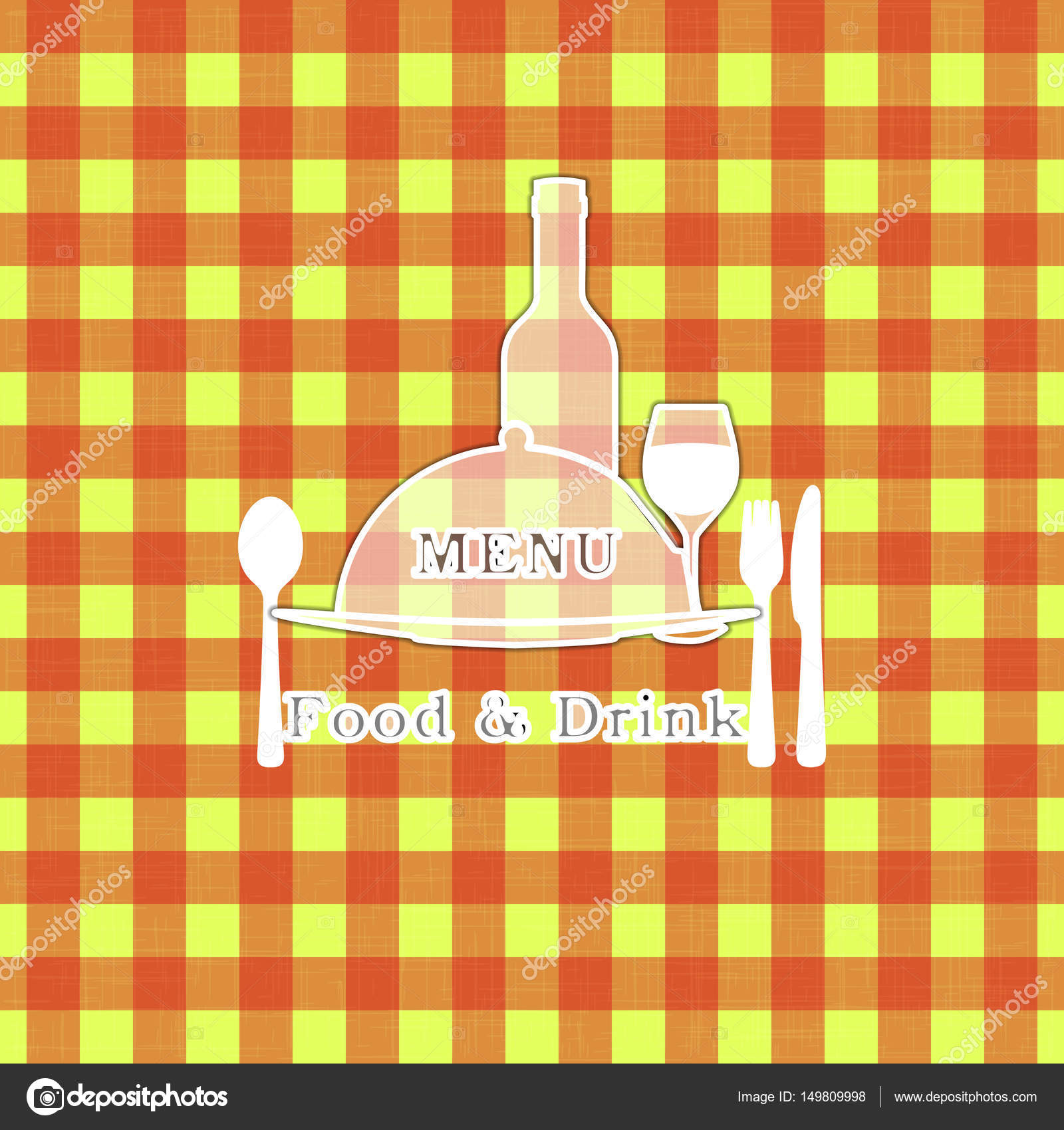 cover template for restaurant menu tablecloth stencil stock vector