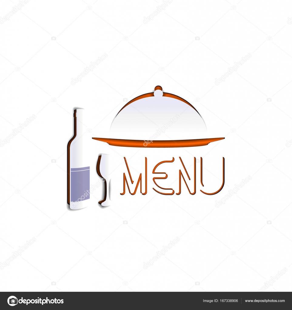 Restaurant Menü Vorlage Schablone-Papier — Stockvektor ...