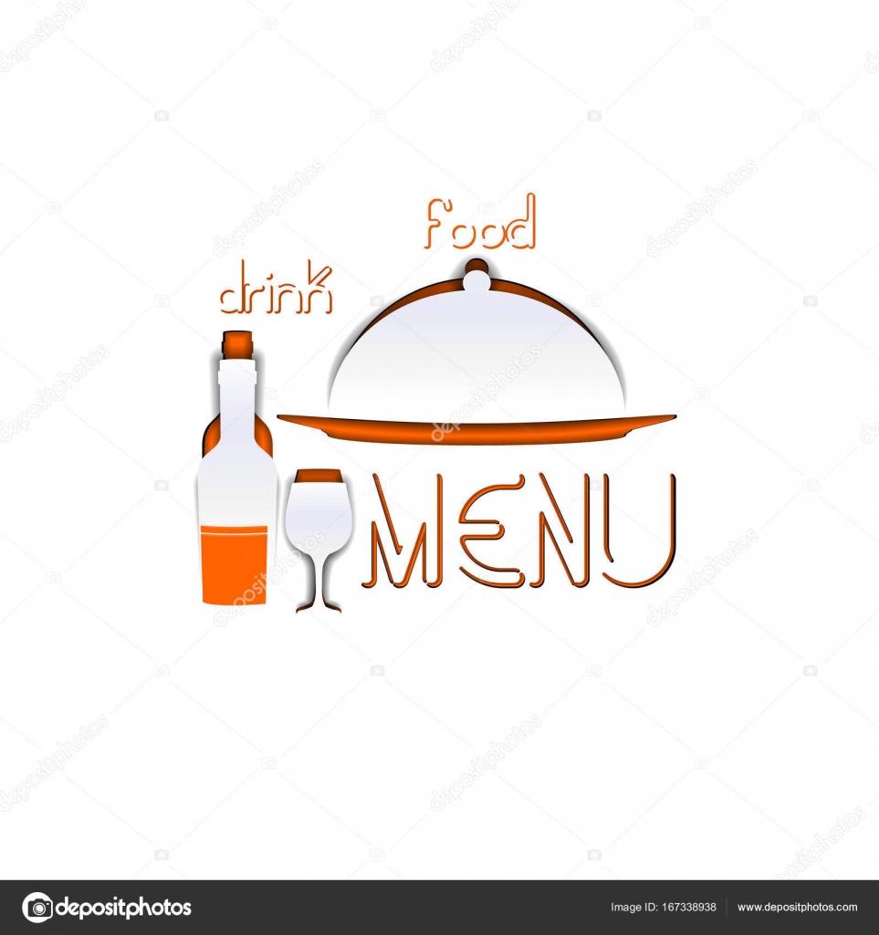 Restaurant Menü Vorlage Schablone Papier uno — Stockvektor ...