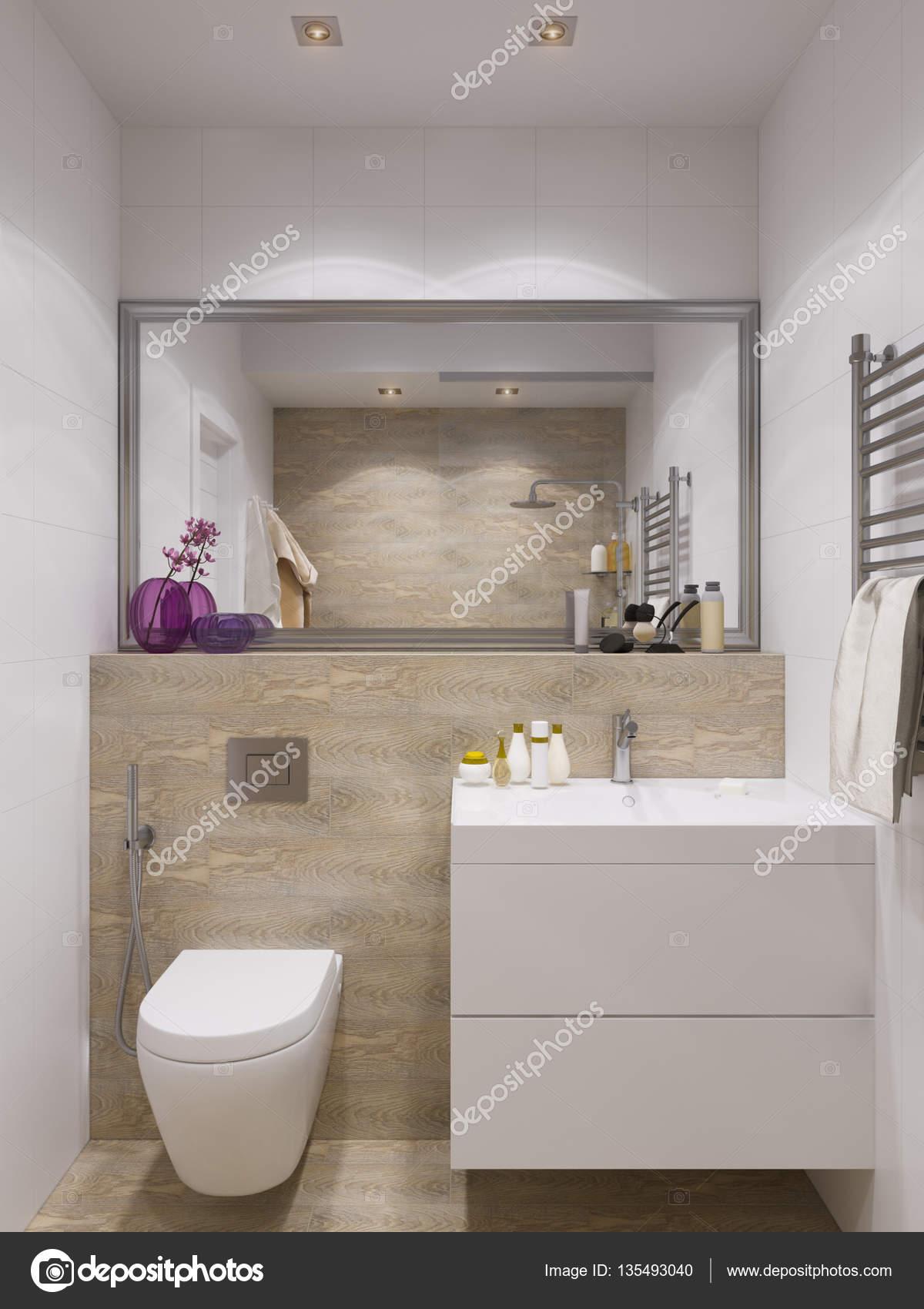 Render 3D diseño de interiores, cuarto de baño — Foto de stock ...