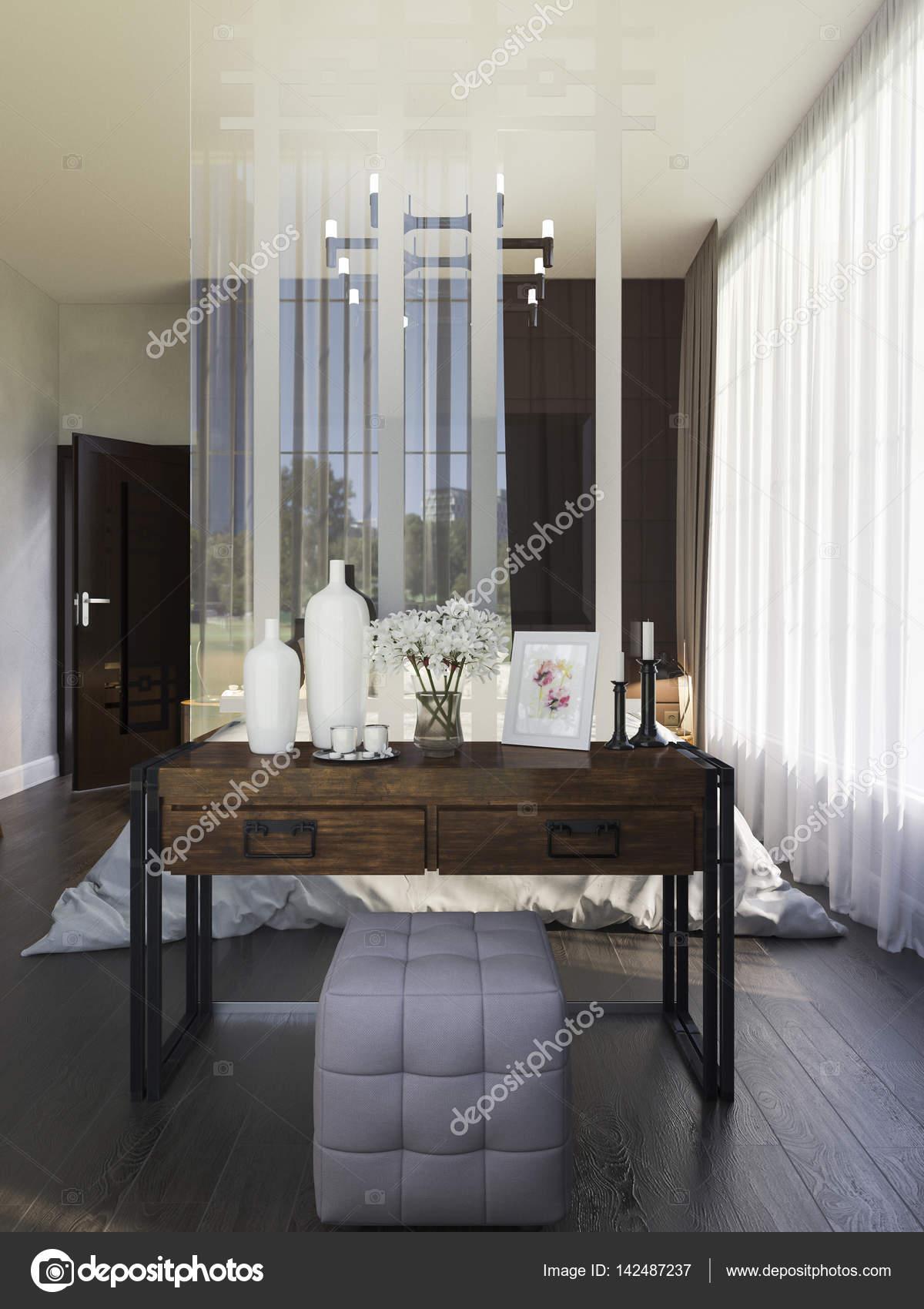 3d illustratie van slaapkamer interieur in een moderne stijl foto van richman21