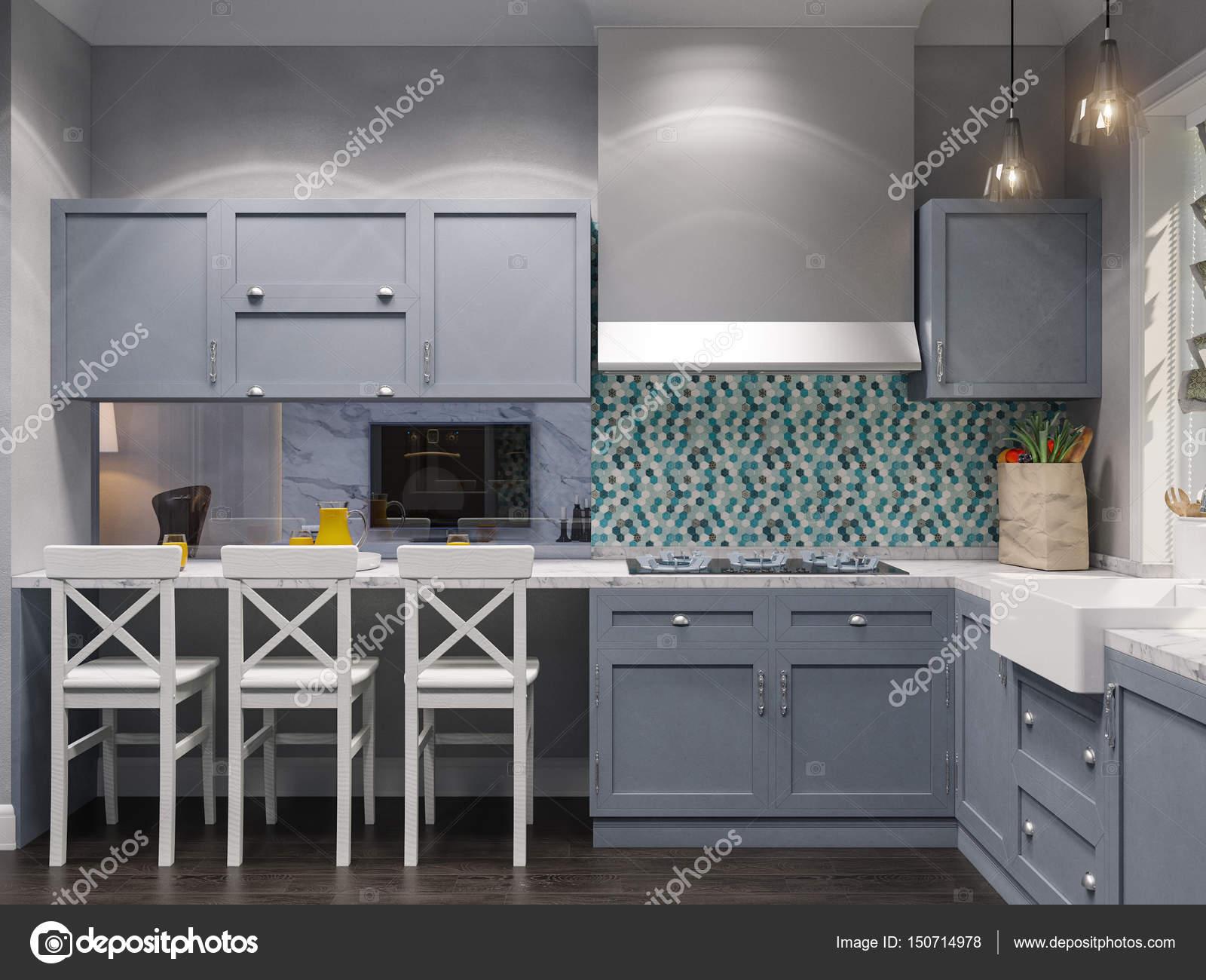 3D Darstellung der Inneneinrichtung Küche — Stockfoto © Richman21 ...
