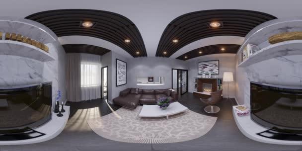 a nappali belsőépítészeti 3D render