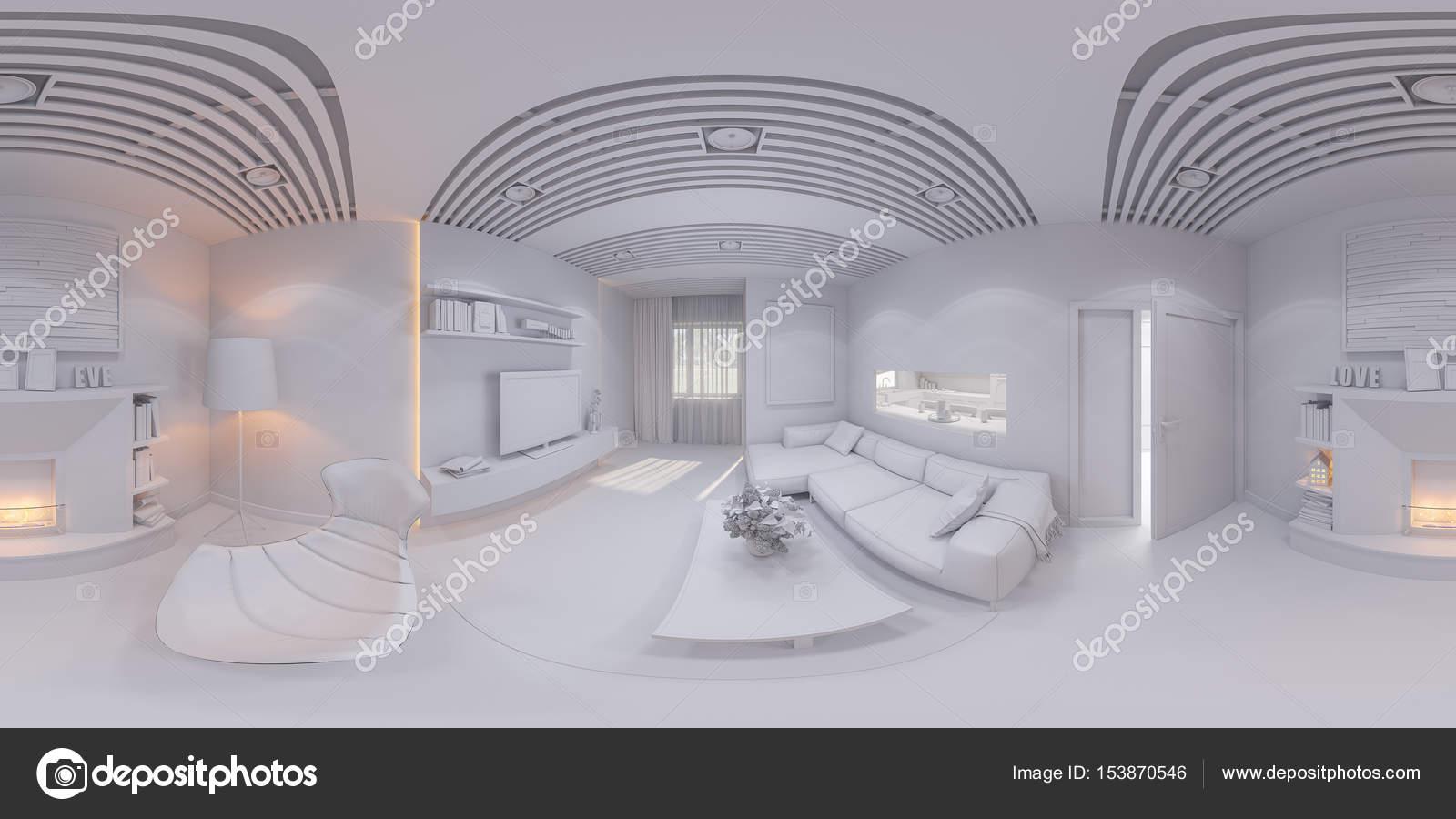 Render de 360 panorama dise o de interiores living comedor for Diseno de interiores living comedor