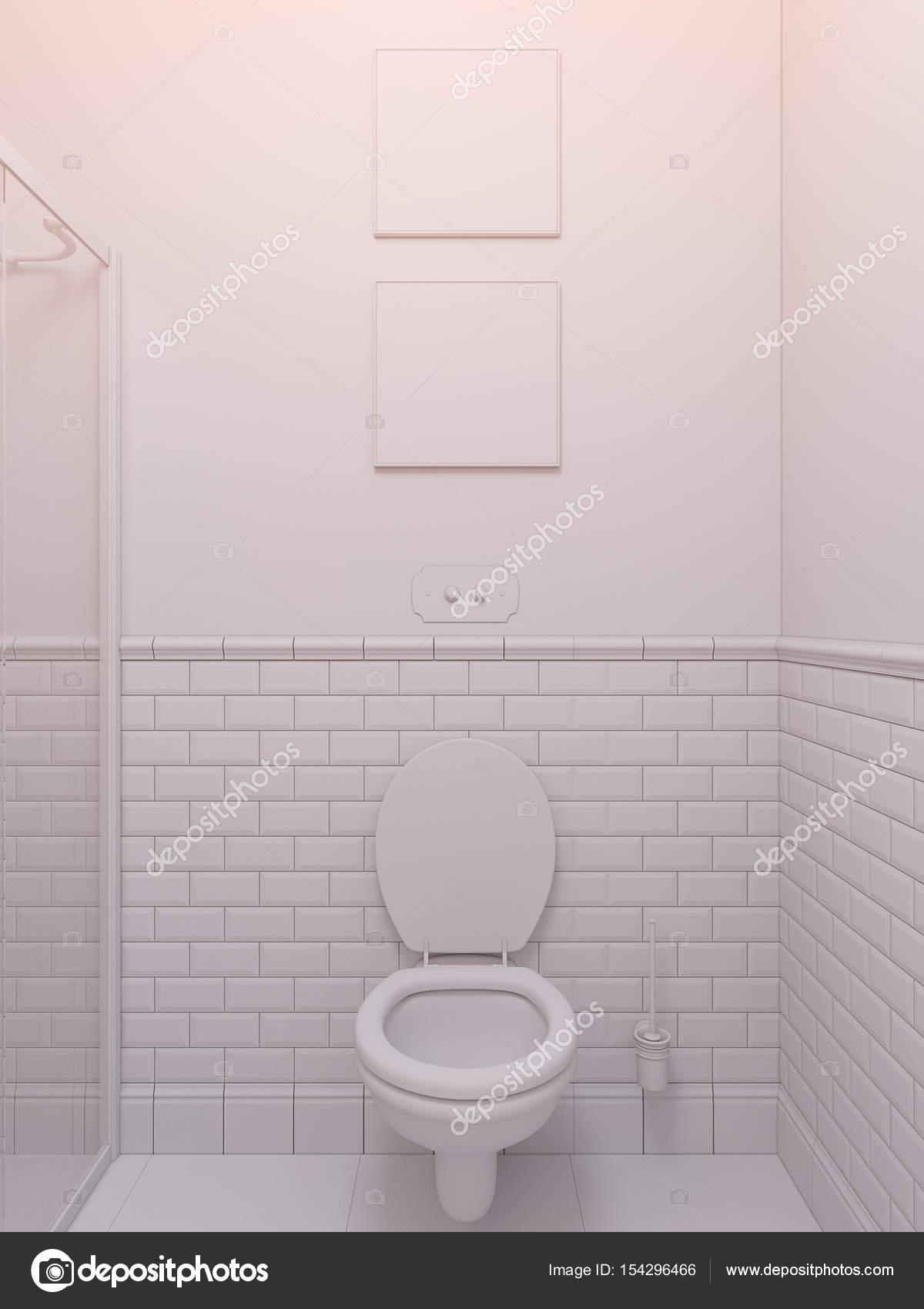 3D illustratie van een interieur-badkamers — Stockfoto © Richman21 ...