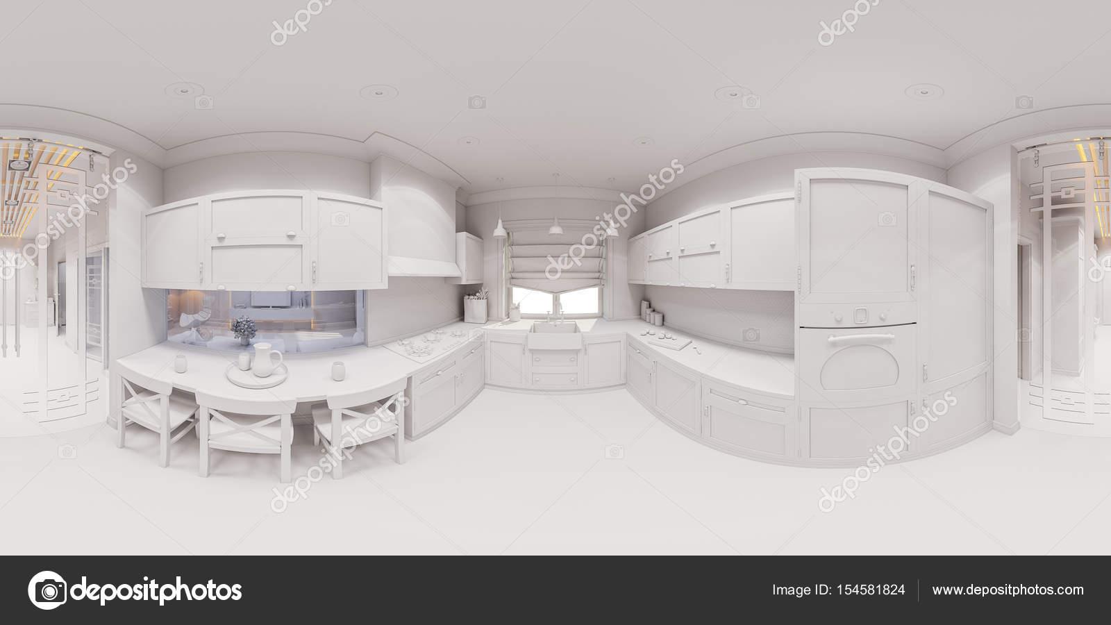 3D Rendering der Küche Innenarchitektur — Stockfoto © Richman21 ...