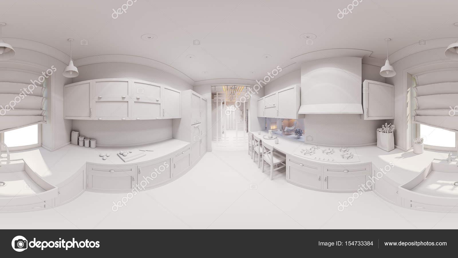 3D render del diseño interior de cocina — Fotos de Stock © Richman21 ...