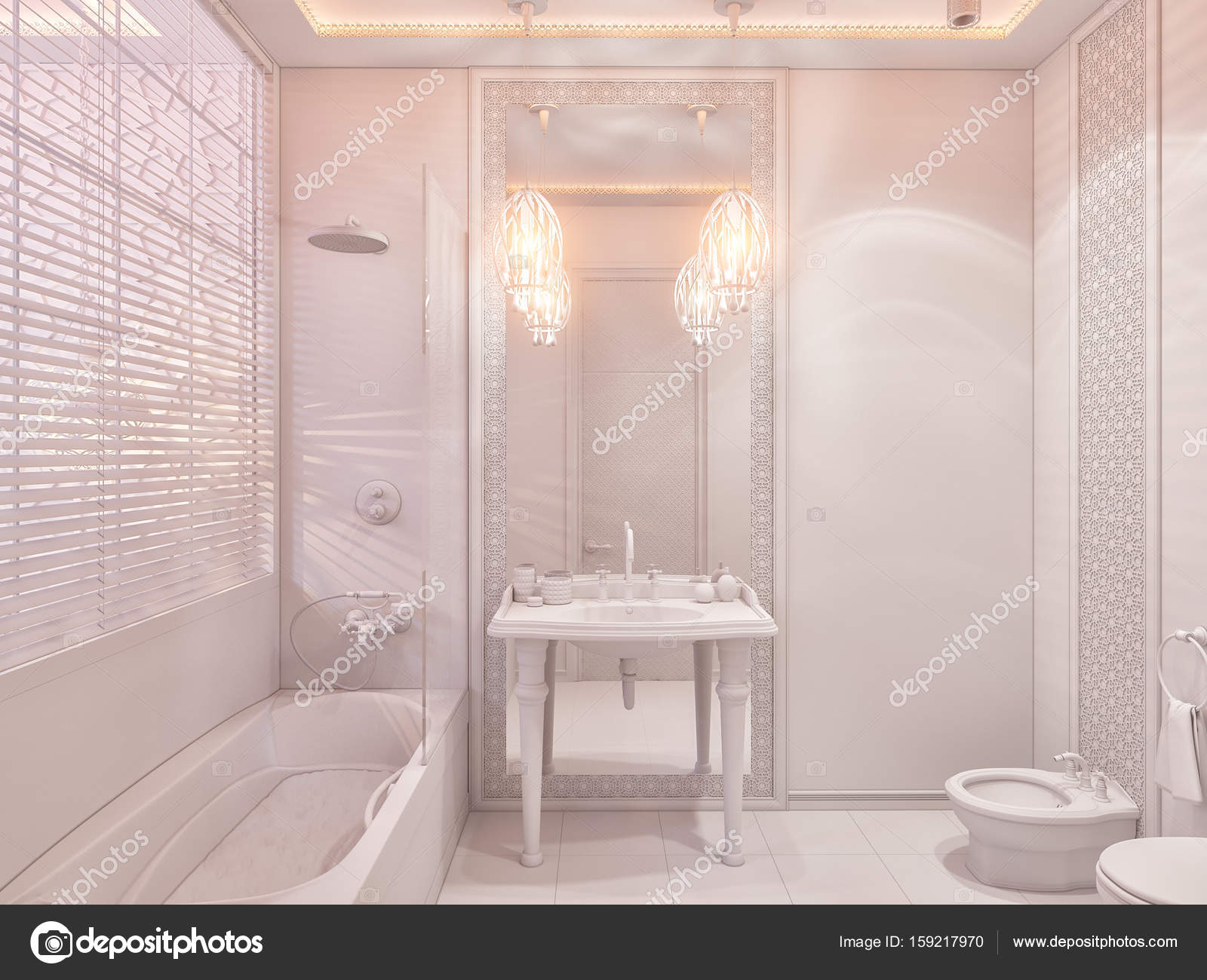 3d Render Bathroom Islamic Style Interior Design Stock Photo C Richman21 159217970