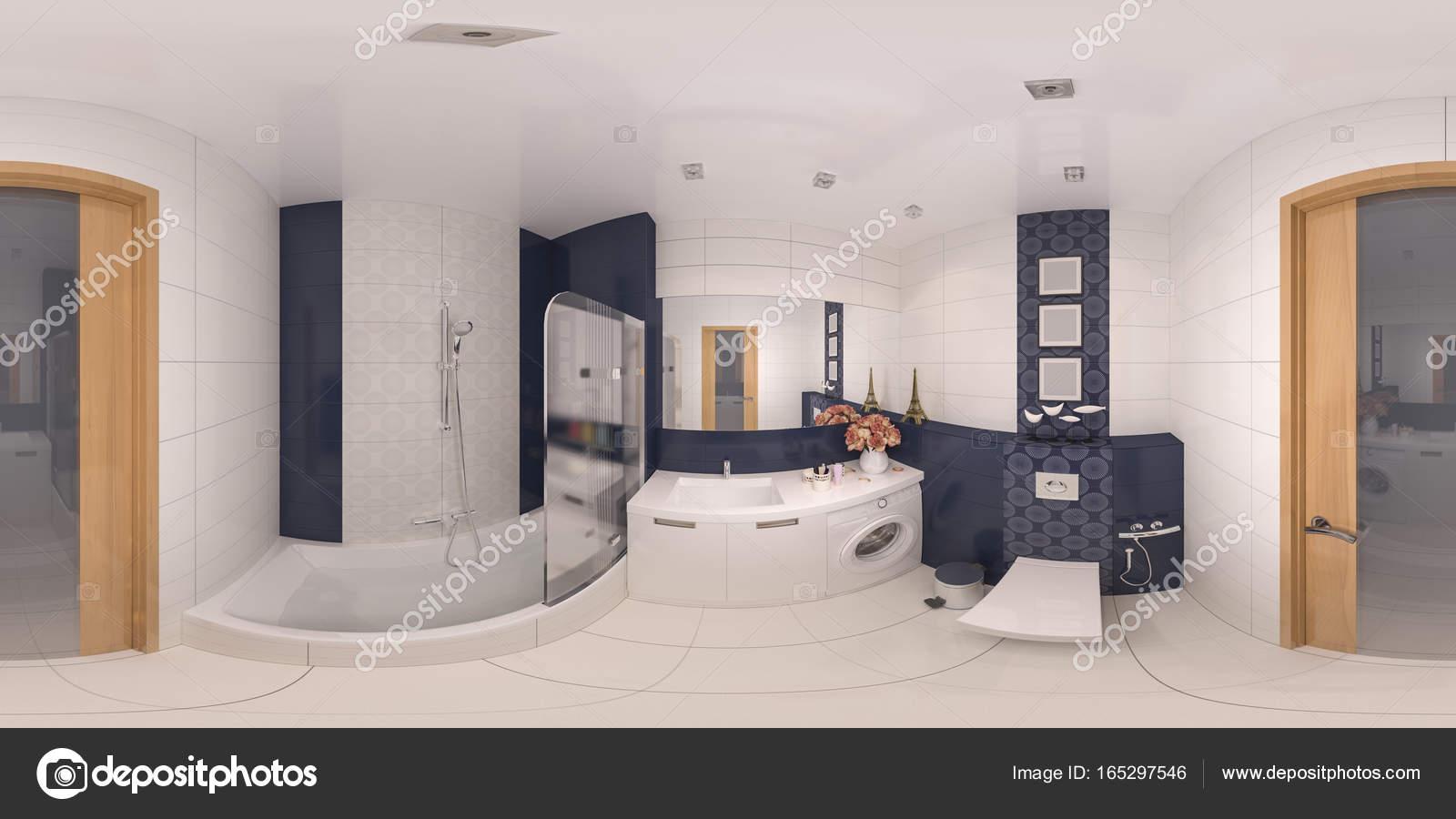 Fotos: cuartos | 360 panorama cuarto de baño de diseño de interiores ...