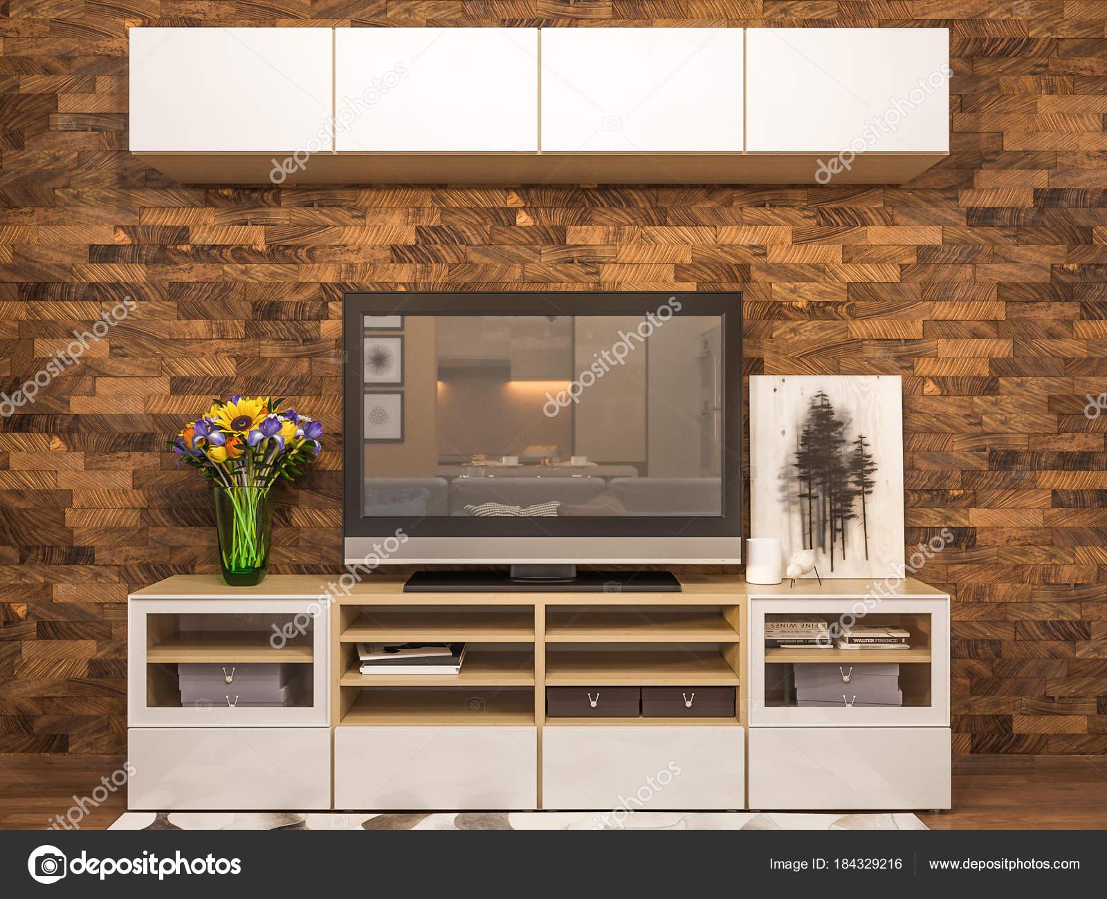 Kleur Corridor Appartement : D rendering woonkamer interieur moderne studio appartement in de