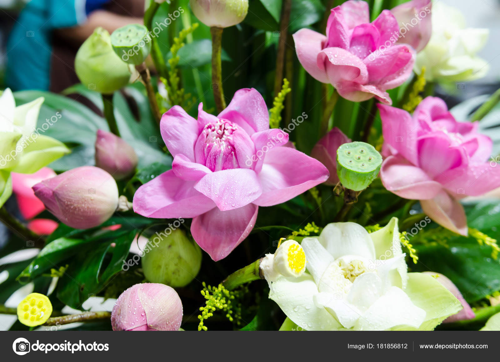 Bunch Lotus Flowers Decoration Wedding Ceremony — Stock Photo ...