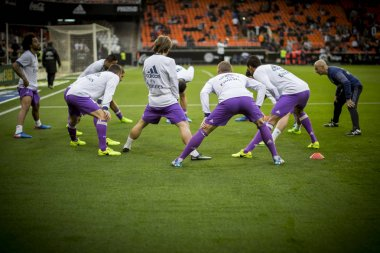 players during La Liga soccer match