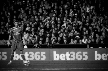 Ronaldo with ball during La Liga