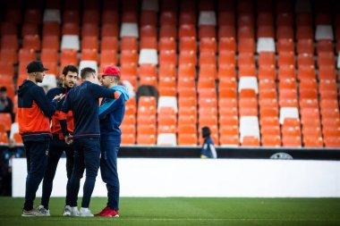 VALENCIA, SPAIN - JANUARY 17, 2018: during Spanish King Cup match between Valencia CF and Alaves at Mestalla Stadium on january 17, valencia