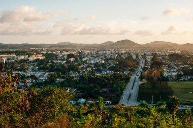 Cuba. November, 2018. panoramic view of the city of Santa Clara on the sunset