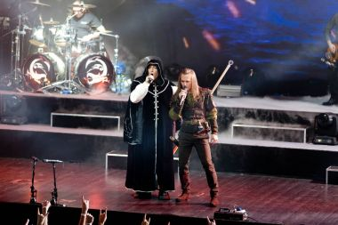 Moscow, Russia, Moscow Space club. 11. 19. 2016. Live performance of the metal Opera