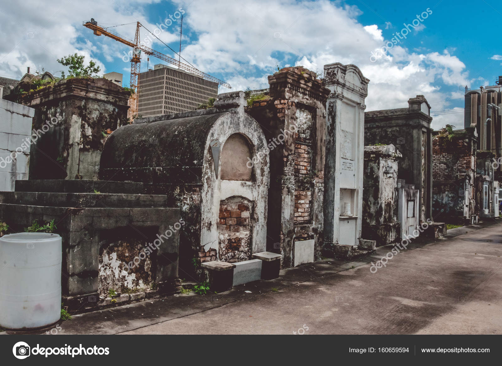 Majestic ancient graves of St  Louis cemetery in New Orleans