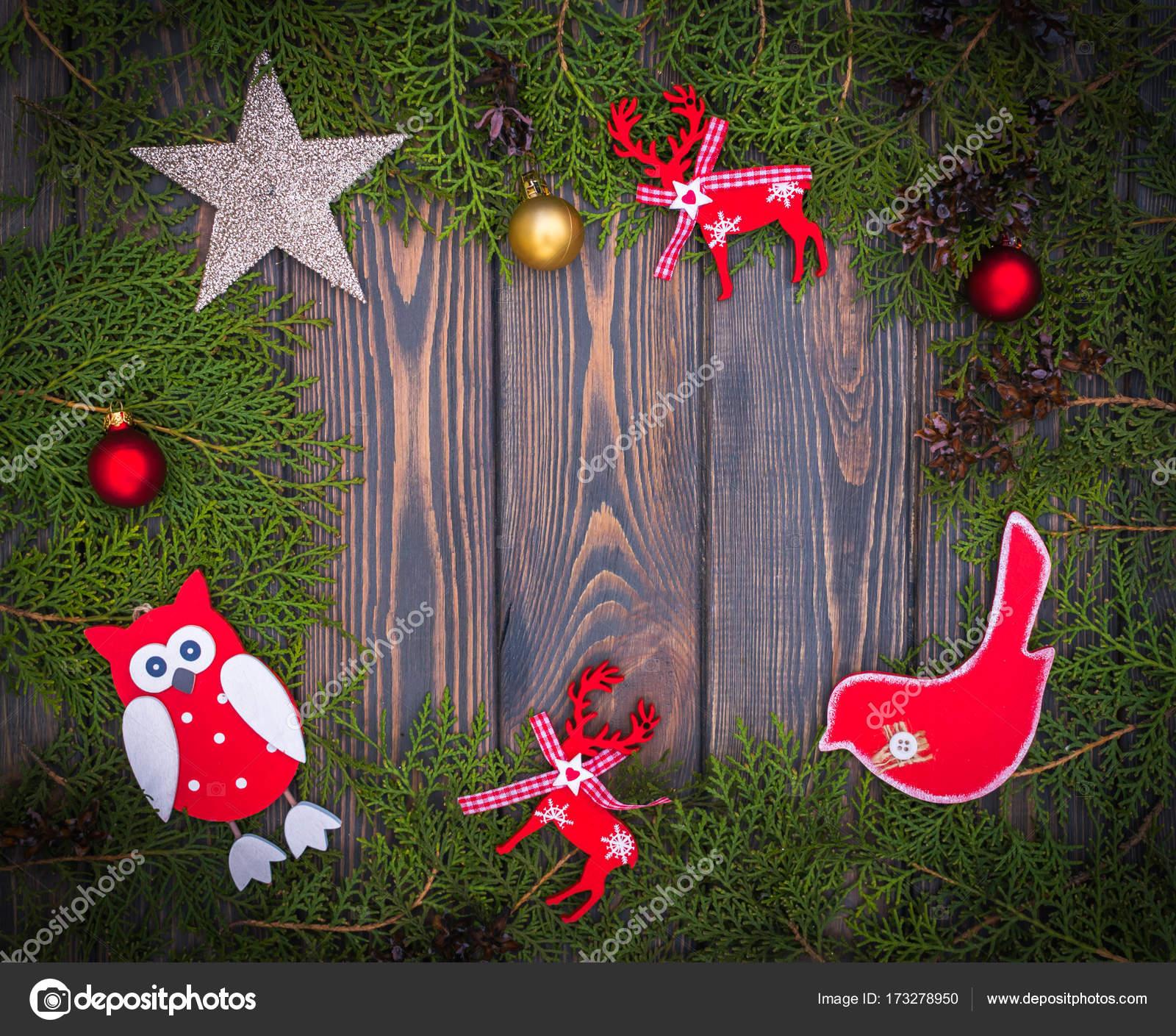 Christmas Tree Toys Handmade.Christmas Tree Toys Handmade And Green Spruce Branches